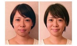 小顔矯正スクールの1日講座受講後の変化目がぱっちり小顔に!