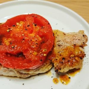 焼きトマトポークソテー